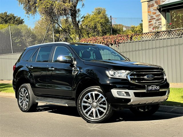 Used Ford Everest UA II 2019.00MY Titanium Hyde Park, 2019 Ford Everest UA II 2019.00MY Titanium Black 10 Speed Sports Automatic SUV