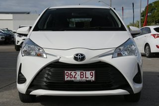 2017 Toyota Yaris NCP130R Ascent Glacier White 4 Speed Automatic Hatchback