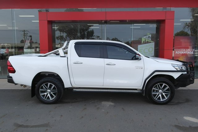 Pre-Owned Toyota Hilux GUN126R SR5 Double Cab Swan Hill, 2020 Toyota Hilux GUN126R SR5 Double Cab White 6 Speed Sports Automatic Utility
