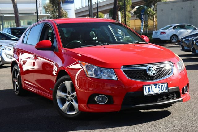 Used Holden Cruze JH Series II MY13 SRi South Melbourne, 2013 Holden Cruze JH Series II MY13 SRi Red Hot 6 Speed Manual Hatchback