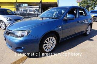 2007 Subaru Impreza G3 MY08 RX AWD Newport Blue 4 Speed Sports Automatic Hatchback.