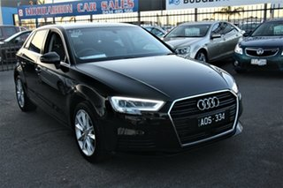 2017 Audi A3 8V MY17 Sportback S Tronic Black 7 Speed Sports Automatic Dual Clutch Hatchback.