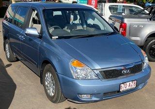 2013 Kia Grand Carnival VQ MY14 S Blue 6 Speed Automatic Wagon.