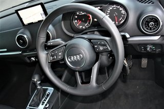 2017 Audi A3 8V MY17 Sportback S Tronic Black 7 Speed Sports Automatic Dual Clutch Hatchback