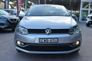 2014 Volkswagen Polo 6R MY15 81TSI DSG Comfortline Silver 7 Speed Sports Automatic Dual Clutch.