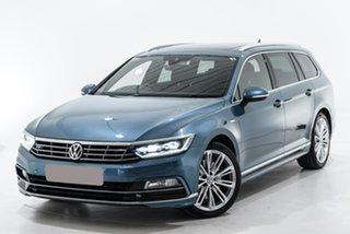 2017 Volkswagen Passat 3C (B8) MY17 206TSI DSG 4MOTION R-Line Blue 6 Speed.
