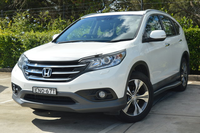 Used Honda CR-V RM MY15 VTi-L 4WD Maitland, 2014 Honda CR-V RM MY15 VTi-L 4WD White 5 Speed Sports Automatic Wagon