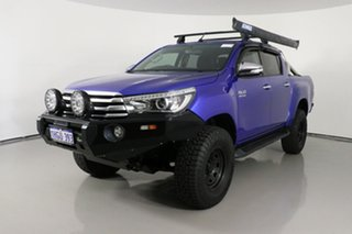 2016 Toyota Hilux GUN126R SR5 (4x4) Blue 6 Speed Automatic Dual Cab Utility.