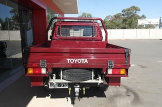 2018 Toyota Landcruiser VDJ79R GXL Double Cab Red 5 Speed Manual Cab Chassis.