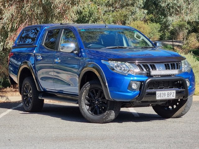 Used Mitsubishi Triton MQ MY17 GLS Double Cab Morphett Vale, 2017 Mitsubishi Triton MQ MY17 GLS Double Cab Blue 5 Speed Sports Automatic Utility