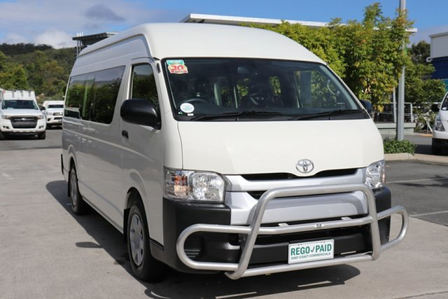 Used Toyota HiAce TRH223R Commuter High Roof Super LWB Robina, 2017 Toyota HiAce TRH223R Commuter High Roof Super LWB White 6 speed Automatic Bus