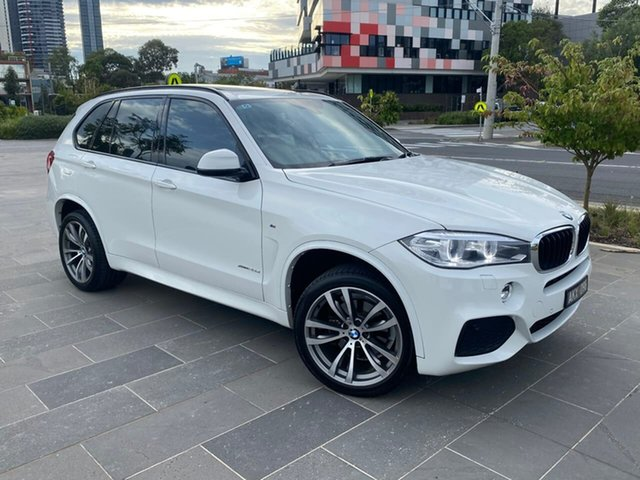 Used BMW X5 F15 xDrive25d South Melbourne, 2014 BMW X5 F15 xDrive25d White 8 Speed Automatic Wagon