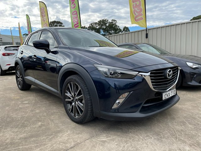 Used Mazda CX-3 DK4W7A sTouring SKYACTIV-Drive i-ACTIV AWD Glendale, 2015 Mazda CX-3 DK4W7A sTouring SKYACTIV-Drive i-ACTIV AWD Blue 6 Speed Sports Automatic Wagon