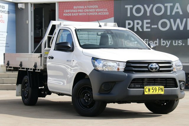 Pre-Owned Toyota Hilux TGN121R Workmate 4x2 Guildford, 2020 Toyota Hilux TGN121R Workmate 4x2 Glacier White 6 Speed Automatic Cab Chassis
