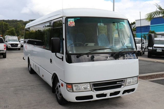 Used Mitsubishi Fuso Rosa BE64D Robina, 2014 Mitsubishi Fuso Rosa BE64D White Automatic Midi Coach