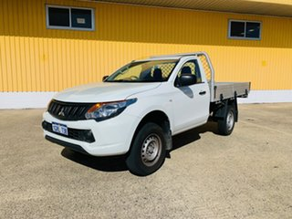 2018 Mitsubishi Triton MQ MY18 GLX (4x4) White 6 Speed Manual Cab Chassis.