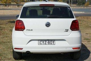 2015 Volkswagen Polo 6R MY15 81TSI Comfortline White 6 Speed Manual Hatchback