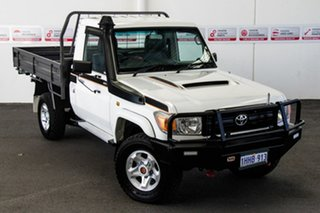 2014 Toyota Landcruiser VDJ79R MY12 Update Workmate (4x4) French Vanilla 5 Speed Manual Cab Chassis.