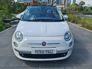 2014 Fiat 500C Series 1 Lounge Dualogic White 5 Speed Sports Automatic Single Clutch Convertible