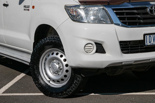 2014 Toyota Hilux KUN26R MY14 SR Double Cab White 5 Speed Automatic Cab Chassis.