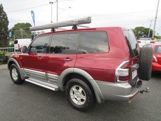 2000 Mitsubishi Pajero NM Exceed Red 5 Speed Sports Automatic Wagon.
