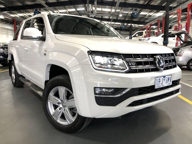 Pre-Owned Volkswagen Amarok 2H MY19 TDI550 4MOTION Perm Highline Oakleigh, 2019 Volkswagen Amarok 2H MY19 TDI550 4MOTION Perm Highline White 8 Speed Automatic Utility