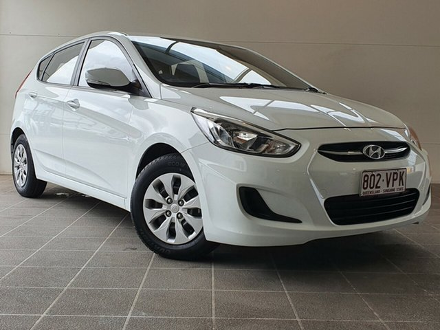 Used Hyundai Accent RB2 MY15 Active Brendale, 2015 Hyundai Accent RB2 MY15 Active White 6 Speed Manual Hatchback