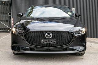 2020 Mazda 3 BP2H76 G20 SKYACTIV-MT Pure Jet Black 6 Speed Manual Hatchback.