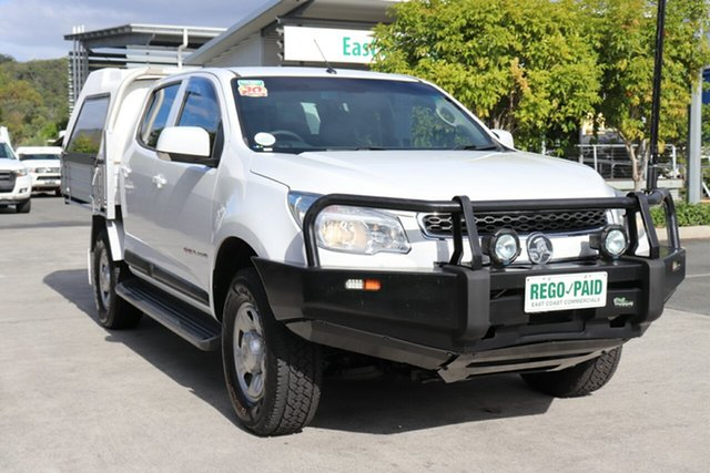 Used Holden Colorado RG MY16 LS Crew Cab Robina, 2016 Holden Colorado RG MY16 LS Crew Cab White 6 speed Automatic Cab Chassis