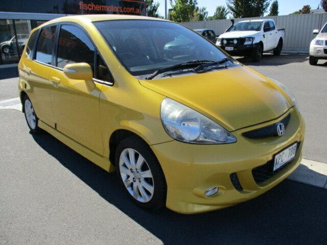 Used Honda Jazz GD VTi-S Murray Bridge, 2007 Honda Jazz GD VTi-S Yellow 7 Speed Constant Variable Hatchback
