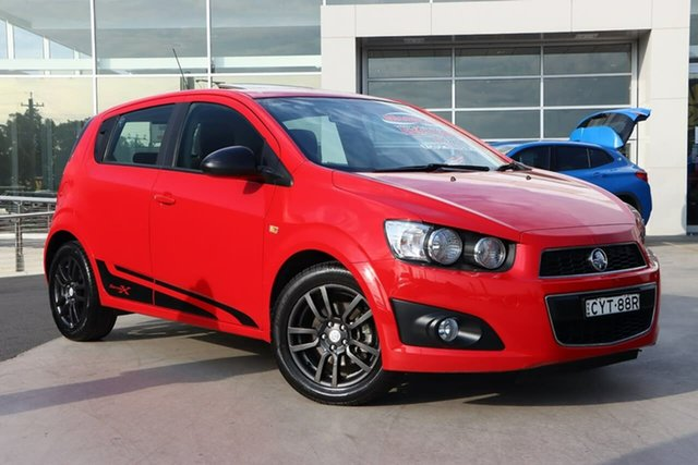 Used Holden Barina TM MY16 X Liverpool, 2015 Holden Barina TM MY16 X Blaze Red 6 Speed Automatic Hatchback