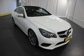 2015 Mercedes-Benz E-Class C207 806MY E250 CDI 7G-Tronic + White 7 Speed Sports Automatic Coupe.