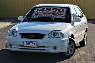 2006 Hyundai Accent LC MY04 GL White 4 Speed Automatic Hatchback