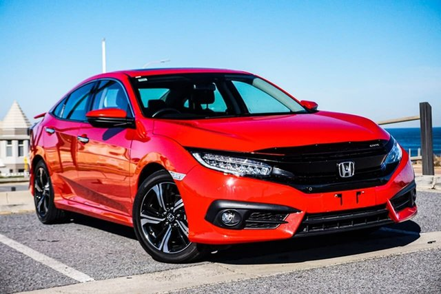 Used Honda Civic 10th Gen MY16 RS Christies Beach, 2016 Honda Civic 10th Gen MY16 RS Red 1 Speed Constant Variable Sedan