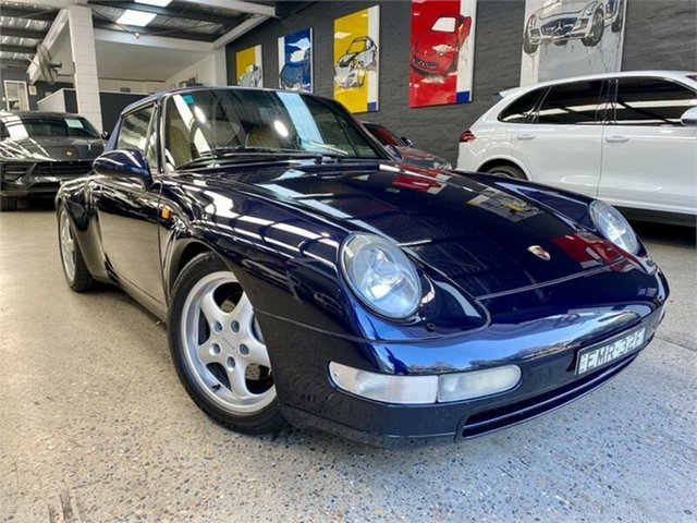 Used Porsche 911 993 Carrera 4 Glebe, 1995 Porsche 911 993 Carrera 4 Midnight Blue Manual Cabriolet