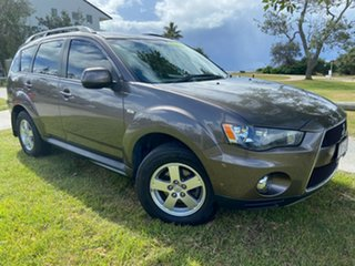 2011 Mitsubishi Outlander ZH MY12 Platinum Brown 6 Speed Constant Variable Wagon.