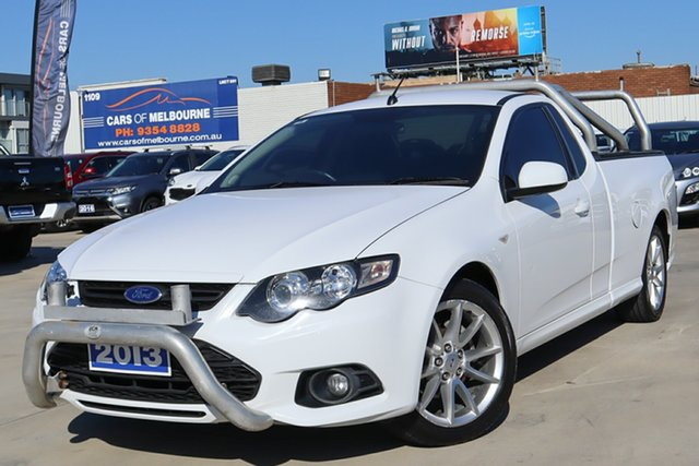 Used Ford Falcon FG MkII XR6 Ute Super Cab EcoLPi Coburg North, 2013 Ford Falcon FG MkII XR6 Ute Super Cab EcoLPi White 6 Speed Sports Automatic Utility