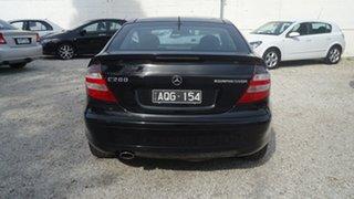 2004 Mercedes-Benz C-Class CL203 MY2003 C200 Kompressor Sports Black 5 Speed Automatic Coupe