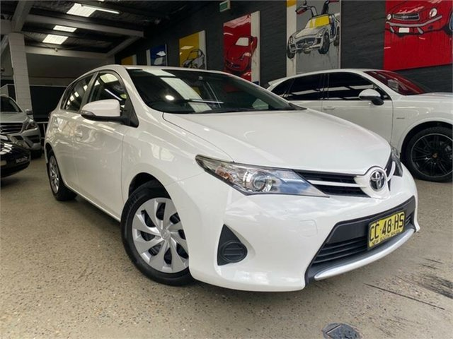 Used Toyota Corolla ZRE182R Ascent Glebe, 2015 Toyota Corolla ZRE182R Ascent White 7 Speed Constant Variable Hatchback