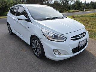 2017 Hyundai Accent RB4 SR White Sports Automatic Hatchback.