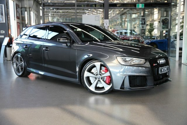 Used Audi RS 3 8V MY16 Sportback S Tronic Quattro North Melbourne, 2016 Audi RS 3 8V MY16 Sportback S Tronic Quattro Grey 7 Speed Sports Automatic Dual Clutch