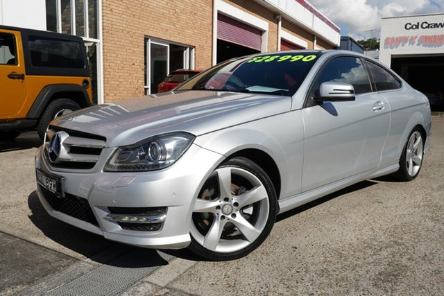Used Mercedes-Benz C-Class C204 C250 CDI 7G-Tronic Avantgarde Narrabeen, 2014 Mercedes-Benz C-Class C204 C250 CDI 7G-Tronic Avantgarde Silver 7 Speed Sports Automatic Coupe