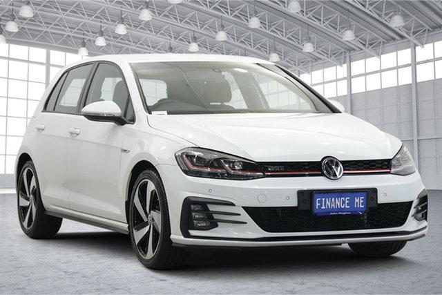 Used Volkswagen Golf 7.5 MY18 GTI DSG Victoria Park, 2017 Volkswagen Golf 7.5 MY18 GTI DSG White 6 Speed Sports Automatic Dual Clutch Hatchback