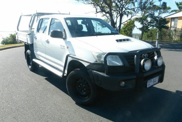 Used Toyota Hilux KUN26R MY12 SR Double Cab Gladstone, 2012 Toyota Hilux KUN26R MY12 SR Double Cab White 4 Speed Automatic Utility