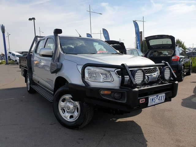 Used Holden Colorado RG MY16 LS Crew Cab 4x2 Essendon Fields, 2016 Holden Colorado RG MY16 LS Crew Cab 4x2 Grey 6 Speed Sports Automatic Cab Chassis