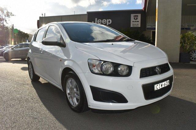 Used Holden Barina TM Gosford, 2012 Holden Barina TM White 6 Speed Automatic Hatchback