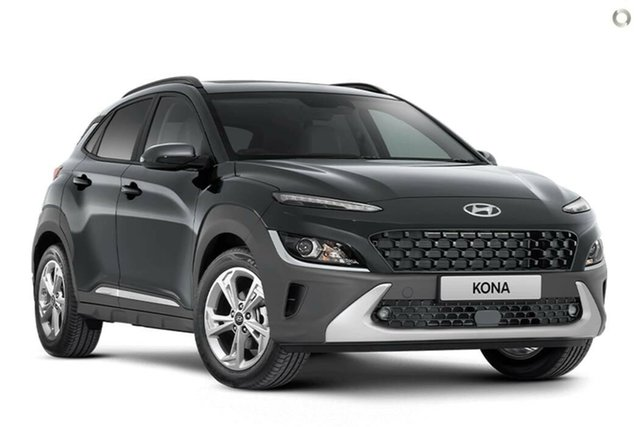 New Hyundai Kona Os.v4 MY21 Active 2WD Nailsworth, 2021 Hyundai Kona Os.v4 MY21 Active 2WD Dark Knight 8 Speed Constant Variable Wagon