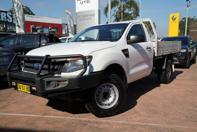 Used Ford Ranger PX XL 3.2 (4x4) Brookvale, 2014 Ford Ranger PX XL 3.2 (4x4) White 6 Speed Automatic Cab Chassis