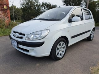 2008 Hyundai Getz TB SX White Manual Hatchback.