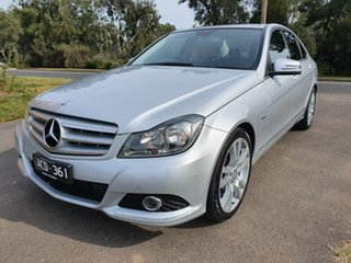2011 Mercedes-Benz C-Class W204 C250 CGI Avantgarde Silver Sports Automatic Sedan.